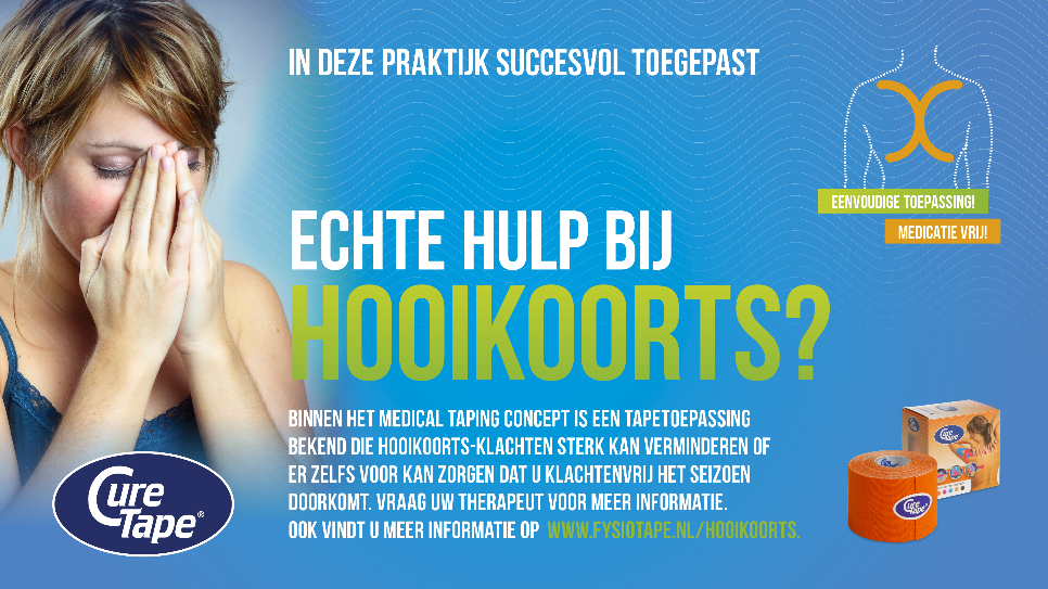 medical taping bij hooikoorts
